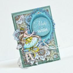 wróżka,baśniowa,życzenia,urodziny - Kartki okolicznościowe - Akcesoria