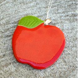 jabłuszko,zawieszka,ceramika,soczyste - Ceramika i szkło - Wyposażenie wnętrz