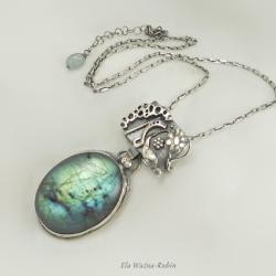 labradoryt,wisior,artjewelry,pendant,elarubin - Naszyjniki - Biżuteria
