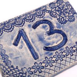 kafel z numerem domu,numer mieszkania - Ceramika i szkło - Wyposażenie wnętrz