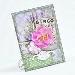 kwiat,dekor,gratulacje - Kartki okolicznościowe - Akcesoria