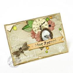 natura,motyl,ważka,życzenia - Kartki okolicznościowe - Akcesoria