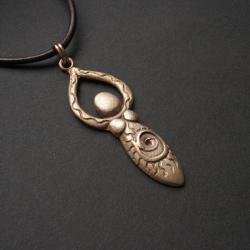 bogini,wisiorek,święta kobiecość,biżuteria,brąz - Wisiory - Biżuteria