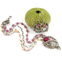 komplet,wrapping,elegancki,kobiecy,rubin,opal - Komplety - Biżuteria