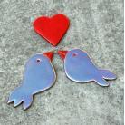 Ceramika i szkło romantyczne,ptaszki,kuchnia,zakochane,magnes