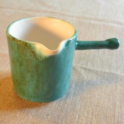 mlecznik,ceramika,zielona kura,dzbanek na mleko - Ceramika i szkło - Wyposażenie wnętrz