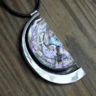 Wisiory srebrny wisior z masą perłową