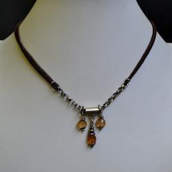 naszyjnik ze srebrem i kamieniami, - Naszyjniki - Biżuteria