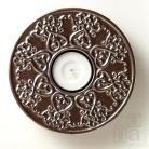 Świeczniki ceramiczny lampion,świecznik,ornament,srebrny