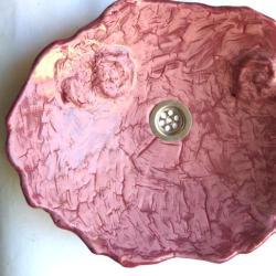 umywalka,umywalka różowa - Ceramika i szkło - Wyposażenie wnętrz