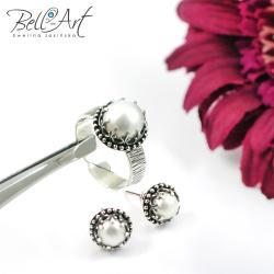 elegancki,retro,romantyczny,subtelny,perły - Komplety - Biżuteria