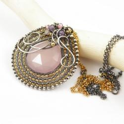 naszyjnik,wrapping,pozłacany,elegancki - Naszyjniki - Biżuteria