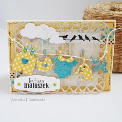 kartka,dziecko,narodziny,gratulacje - Kartki okolicznościowe - Akcesoria
