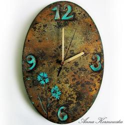 zegar,postarzany,turkud,rdza,owal,tarcza - Inne - Wyposażenie wnętrz