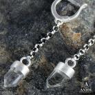 Kolczyki kolczyki,kryształ górski,łańcuszek
