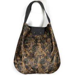 złocisty wzór,orient,ornament,torba worek - Na ramię - Torebki