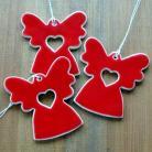 Ceramika i szkło anioł,zawieszka,ceramika,romantyczny