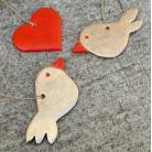 Ceramika i szkło romantyczne,zawieszki,ptaki,serce,zakochani