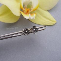 sztyfty,srebro,delikatne,lekkie - Kolczyki - Biżuteria