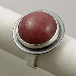 pierścionek z rodonitem - Pierścionki - Biżuteria