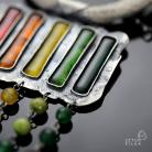 Naszyjniki srebrny naszyjnik,kolorowy naszyjnik,srebro
