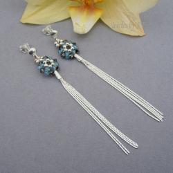 długie,lekkie,delikatne,srebro,Swarovski - Kolczyki - Biżuteria