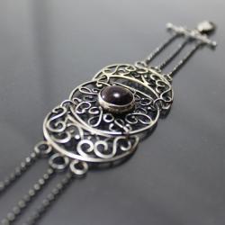 ozdobna bransoletka,finezyjne rozety - Bransoletki - Biżuteria
