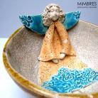 Ceramika i szkło anioł,aniołek,miseczka,mimbres