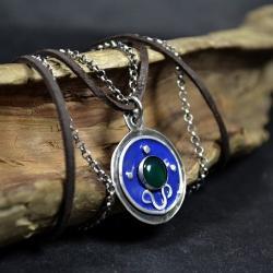 naszyjnik emaliowany,wisior z emalia - Naszyjniki - Biżuteria