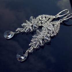 kolczyki ślubne z cyrkoniami i Swarovskim - Kolczyki - Biżuteria