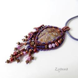 wisior,haft koralikowy,oryginalny,bajkowy - Wisiory - Biżuteria