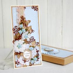 kartka,dniu ślubu,ślubna,w pudełku,na prezent - Kartki okolicznościowe - Akcesoria