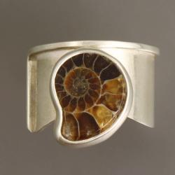 pierścionek z amonitem - Pierścionki - Biżuteria