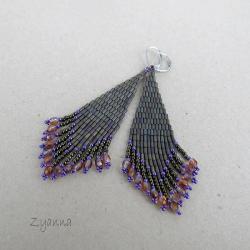 kolczyki,indiańskie,długie - Kolczyki - Biżuteria