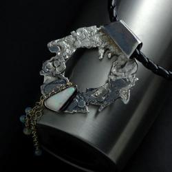 wisior z opalem australijskim - Wisiory - Biżuteria