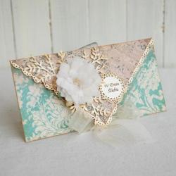 kartka,na prezent,imieniny,urodziny,pastelowa - Kartki okolicznościowe - Akcesoria