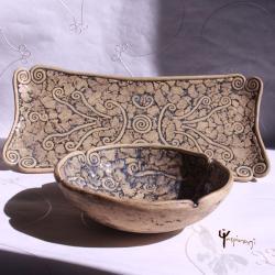 misa,ceramika,unikat,patera,komplet,prezent - Ceramika i szkło - Wyposażenie wnętrz