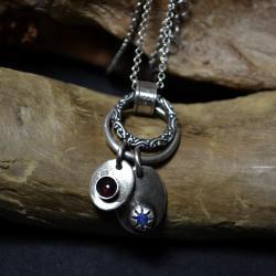 naszyjnik z kamieniami,srebrny naszyjnik - Naszyjniki - Biżuteria
