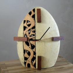 zegar,zegar stojący,ceramika artystyczna - Zegary - Wyposażenie wnętrz