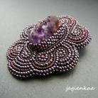 Broszki elegancki,unikalny,asymetryczny,haft koralikowy
