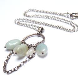 naszyjnik z amazonitem - Naszyjniki - Biżuteria