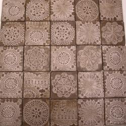 kafle koronkowe,rustykalne kafle ręcznie robione - Ceramika i szkło - Wyposażenie wnętrz