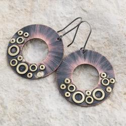 kolczyki,koła,miiedziane,oryginalne,kobiece,artse - Kolczyki - Biżuteria