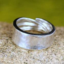 regulowana srebrna obrączka - Pierścionki - Biżuteria