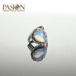 Srebrny pierścionek z Opalitem - Pierścionki - Biżuteria
