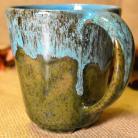 Ceramika i szkło kubki,kubek,kubeczki,zielona kura,ceramika